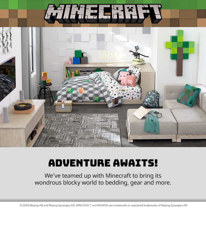 Sheet Sets Minecraft Feature Pottery Barn Kids