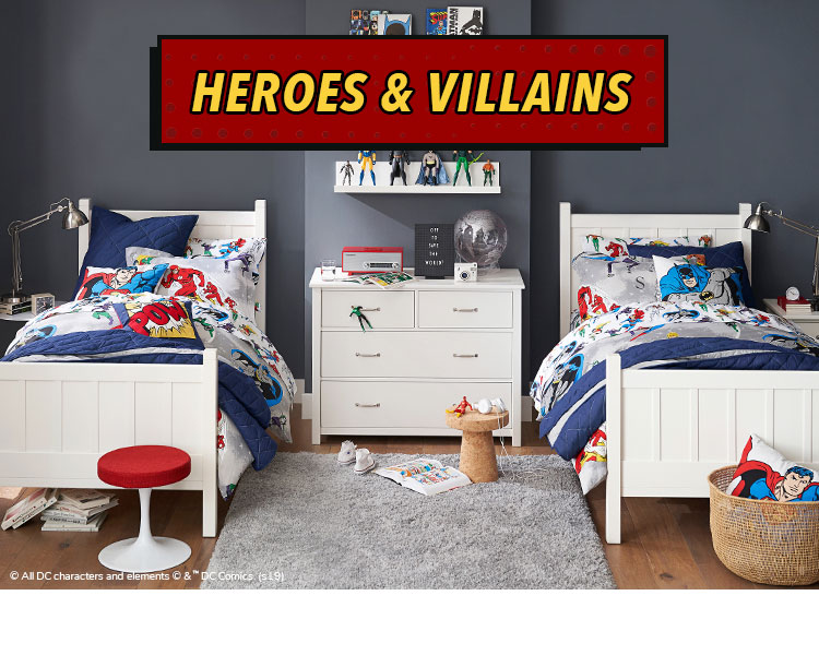 Superhero Room Decor Heroes Villains Collection Pottery Barn Kids