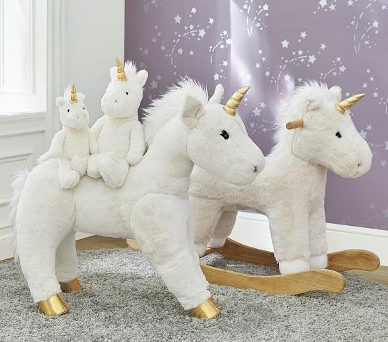 Unicorn Hat Faux Fur Animal Plush White