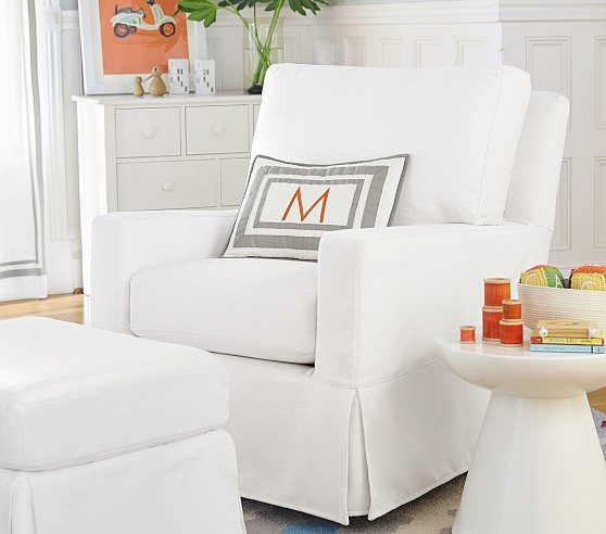 Square Arm Swivel Nursery Glider