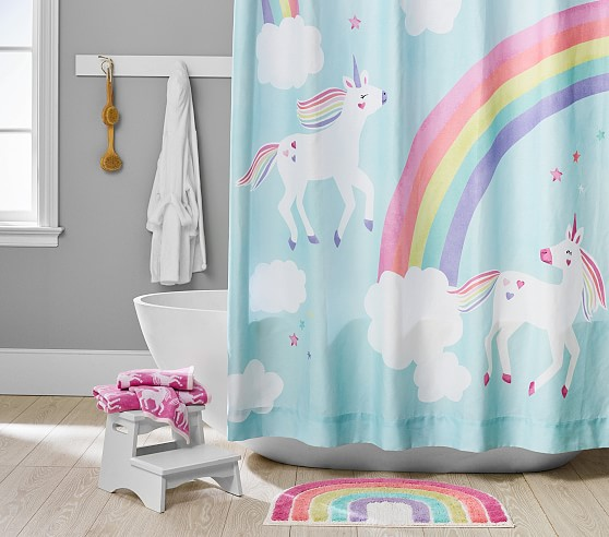 Rainbow Unicorn Bath Kids Bathroom Set