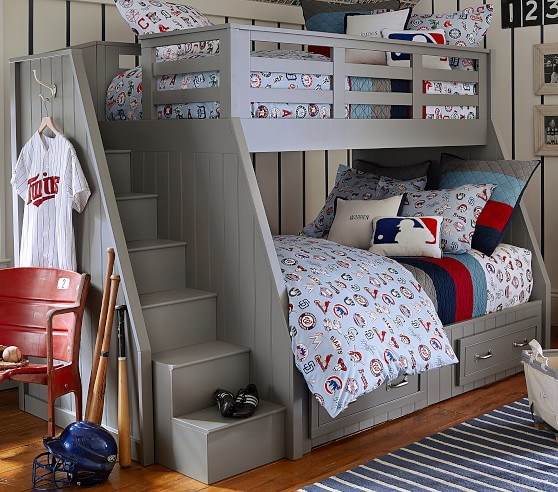 Belden Twin Over Full Stair Loft Bed