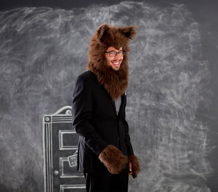 Werewolf Head Amp And Paws Costume Adult Halloween Costume