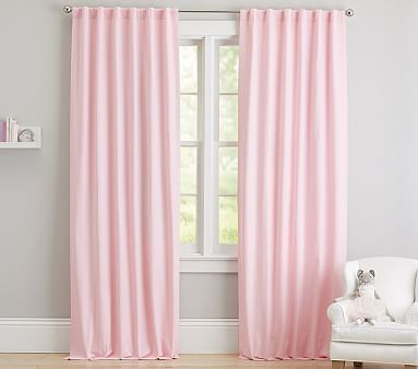 Evelyn Linen Blend Bow Valance Kids Blackout Curtain