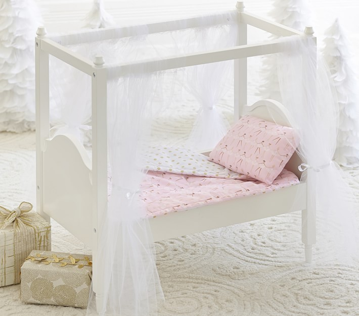 Doll Canopy Bed Amp Bedding Baby Doll Acessories Pottery