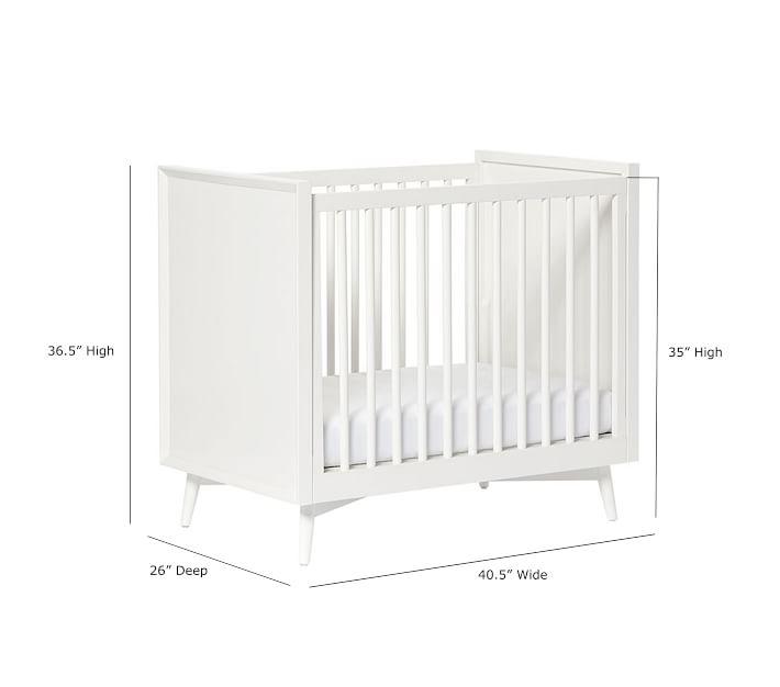 West Elm X Pbk Mid Century Mini Crib With Mattress Baby