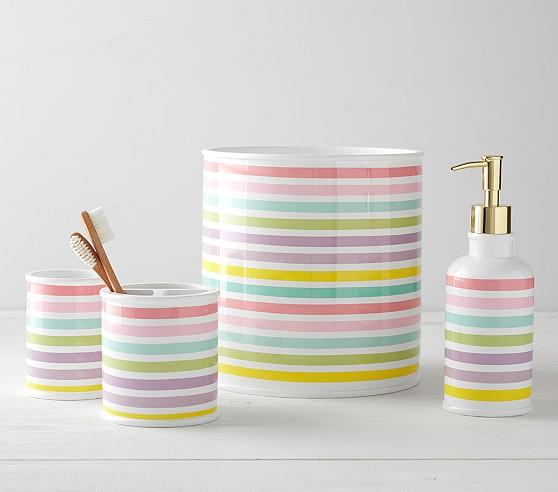 Rainbow Kids Bathroom Set Pottery