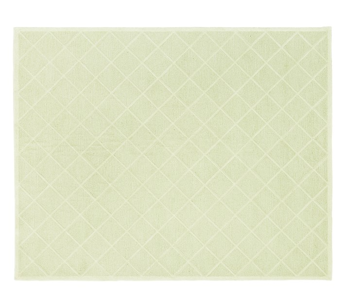 Lux Trellis Rug Green Patterned Rugs Pottery Barn Kids