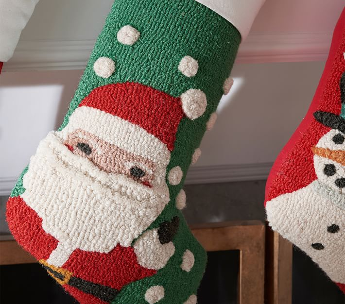 Hook And Loop Christmas Stocking Collection Pottery Barn