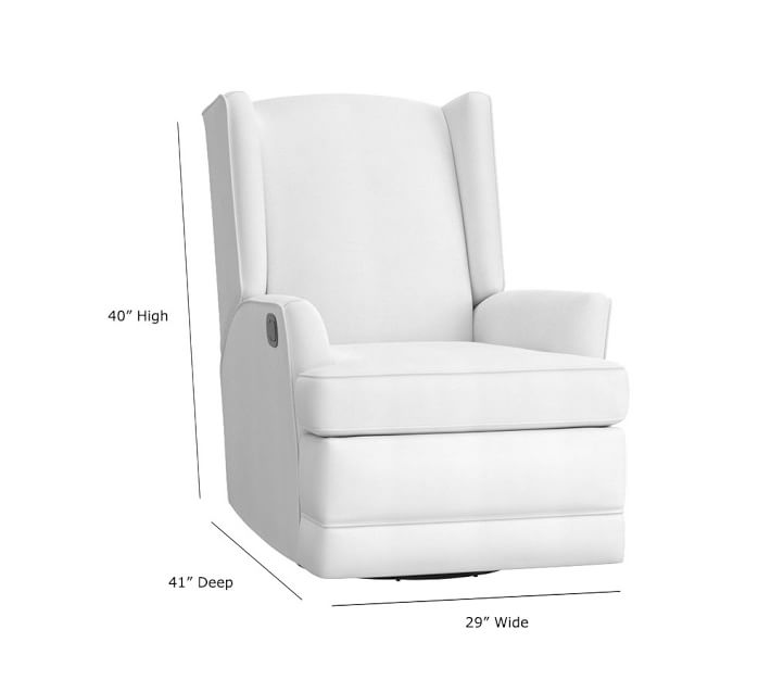 Modern Wingback Swivel Nursery Glider Amp Recliner Pottery