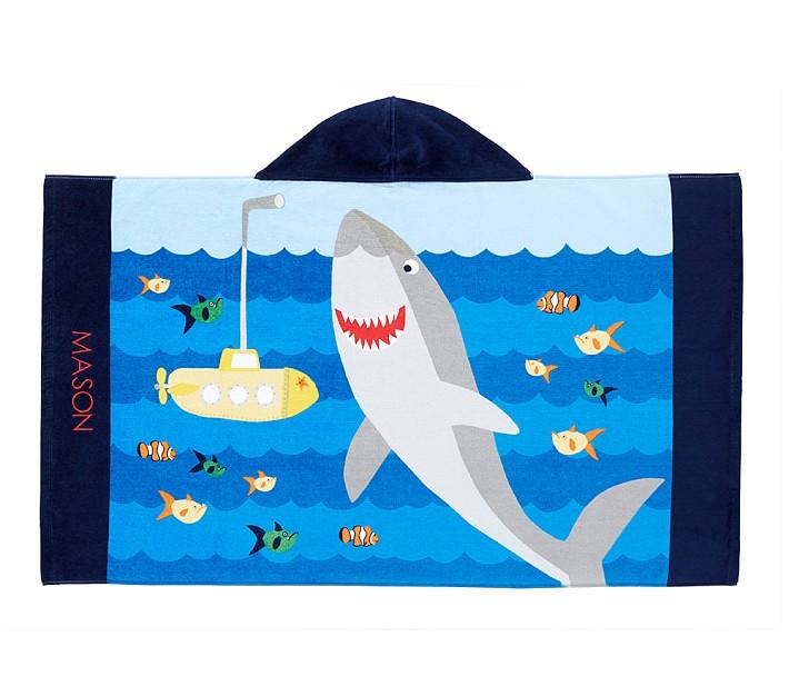 Shark Hooded Beach Wrap Pottery Barn Kids