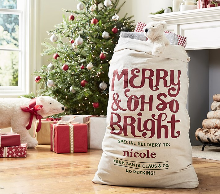 Merry And Oh So Bright Santa Sack Pottery Barn Kids