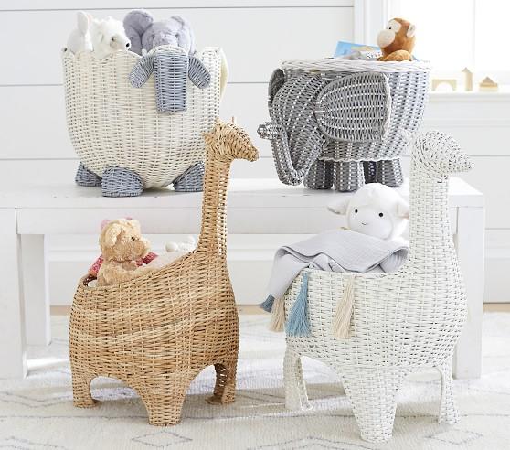 Giraffe Shaped Wicker Basket Nursery