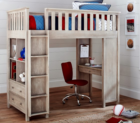 Elliott Loft Bed For Kids Pottery