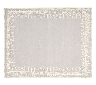Taza Rug Gray Patterned Rugs