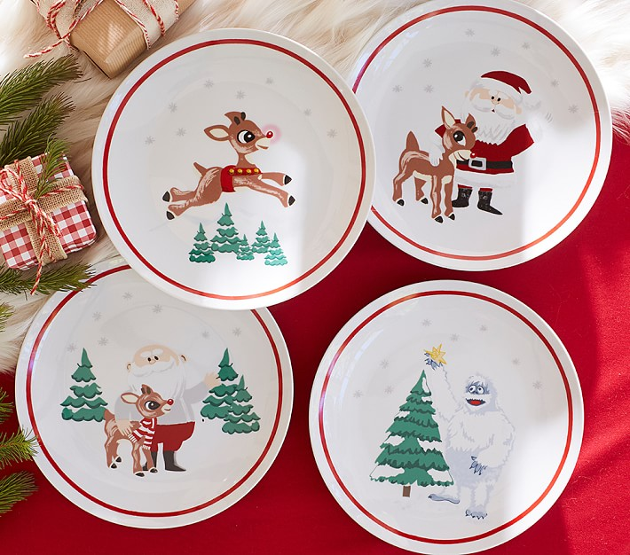 Rudolph The Red Nosed Reindeer 174 Kids Plates Pottery Barn