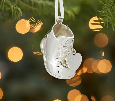 Baby/'s First Christmas Zinc Ornament w// Gift Box Boy