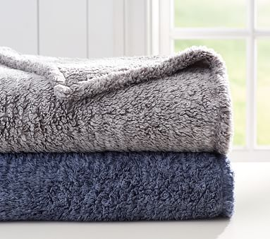 Heathered Sherpa Bed Blanket Pottery Barn Kids