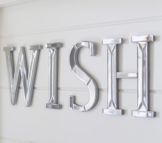 Wish Mirrored Decorative Wall Letter