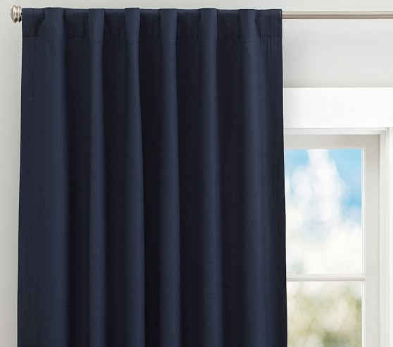 Quincy Cotton Canvas Kids Blackout Curtain Pottery Barn Kids