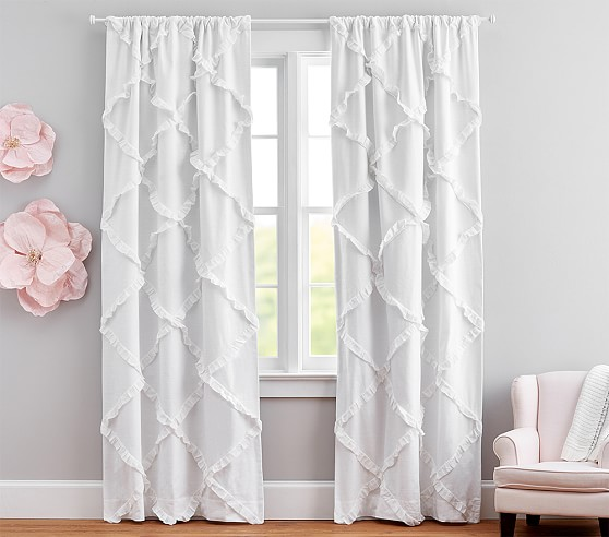 Diamond Ruffle Kids Blackout Curtain