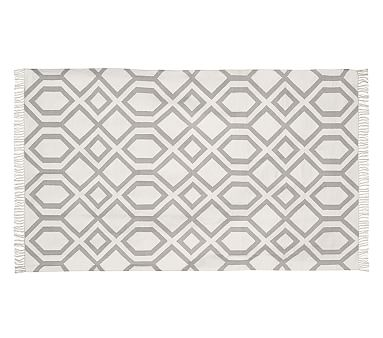 Ibiza Mat Gray Patterned Rugs Pottery Barn Kids