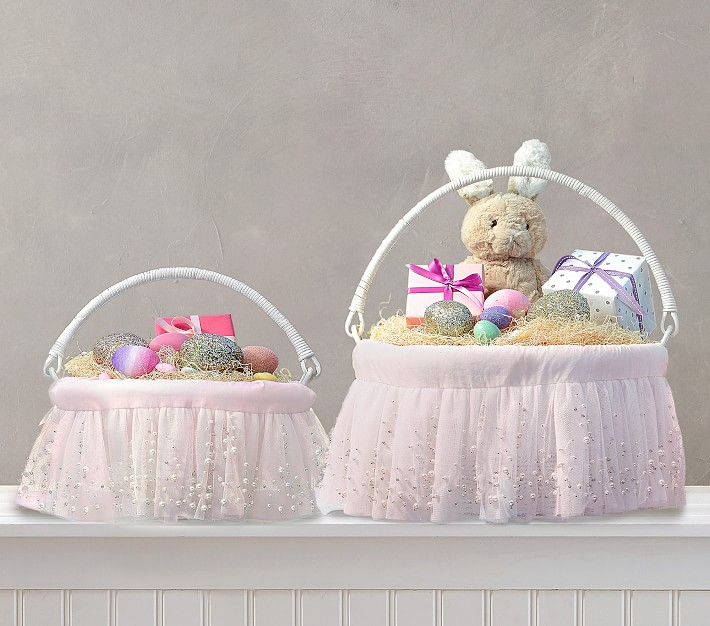 Blush Ombre Pearl Easter Basket Pottery Barn Kids