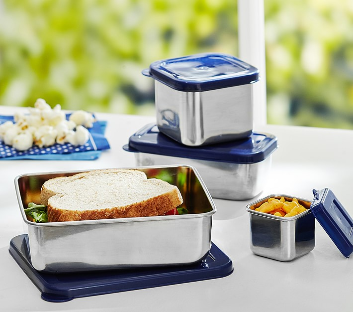 Spencer Stainless Steel Navy Containers Food Storage