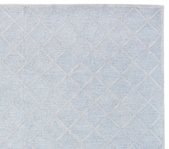 Lux Trellis Rug Blue Patterned Rugs Pottery Barn Kids