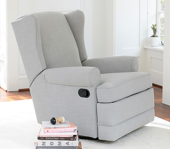 Wingback Swivel Nursery Glider