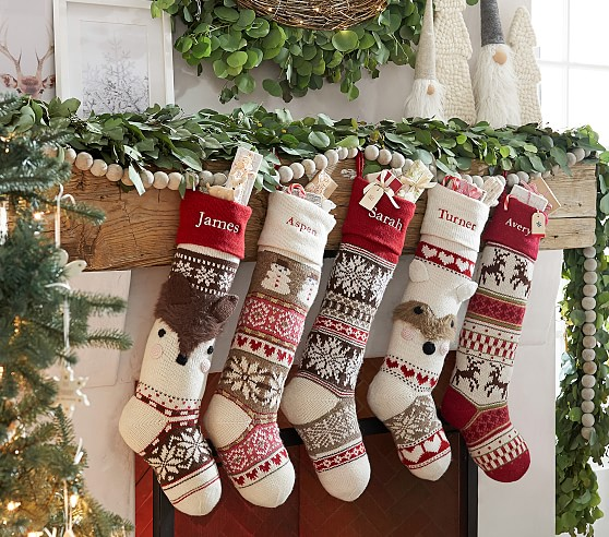 Classic Fair Isle Christmas Stocking Collection Pottery