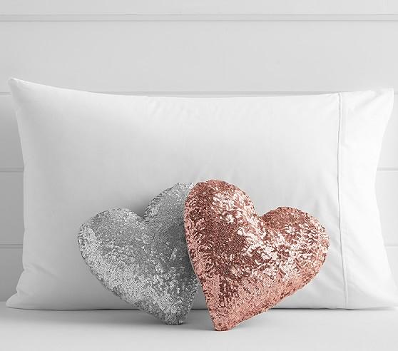 Sequin Heart Shaped Decorative Nursery