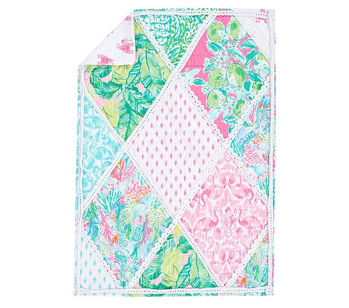 Lilly Pulitzer Party Patchwork Quilt: Lilly Pulitzer Party Patchwork Toddler Comforter