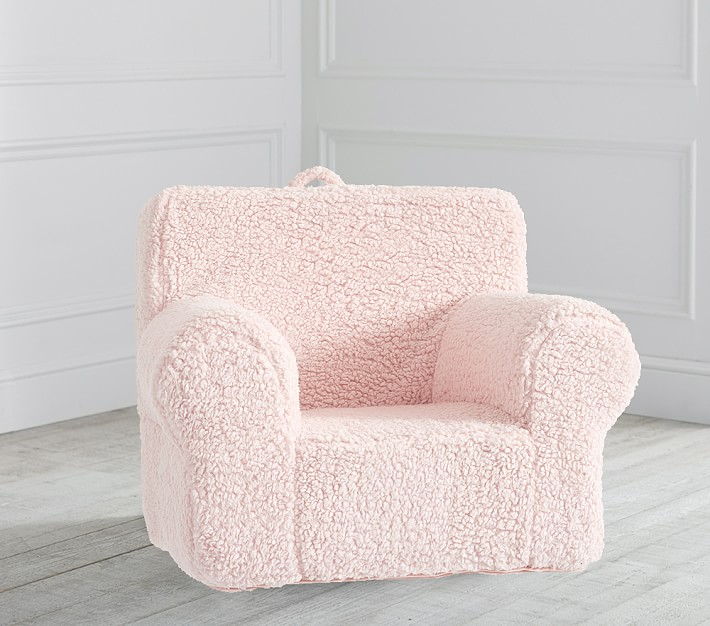 Blush Cozy Sherpa Anywhere Chair 174 Kids Armchair