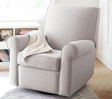 Swivel Nursery Glider Recliner Chair