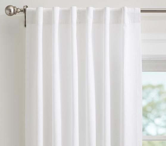 Quincy Cotton Canvas Non Blackout Curtain Panel Pottery