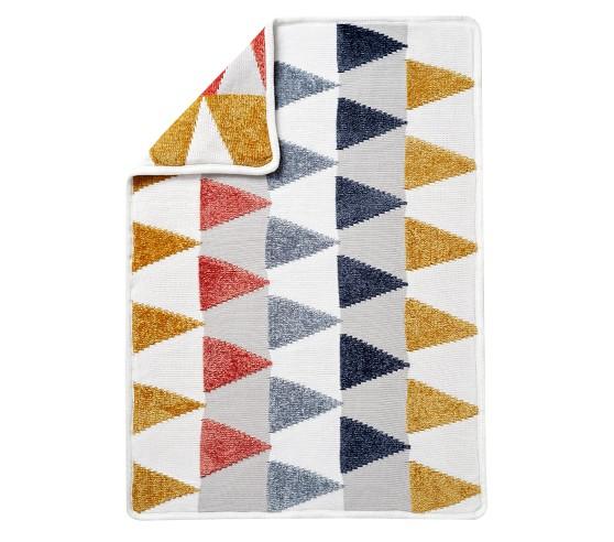 Chenille Triangles Baby Blanket Pottery Barn Kids