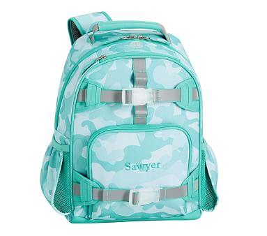 Mackenzie Aqua Camo Reflective Backpacks Pottery Barn Kids