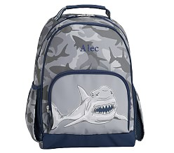 포터리반 가방 샤크카모 초등 백팩 (Light-up) Potterybarn Mackenzie Gray Sharks Backpacks