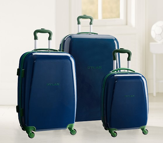 POTTERY BARN KIDS NAVY GREEN SOLID CLASSIC MACKENZIE LUNCH BOX BAG
