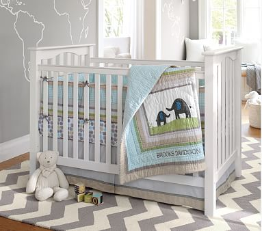 Kendall Low-Profile Convertible Baby Crib | Pottery Barn Kids