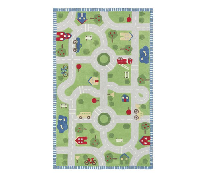 Play In The Park Road Rug Patterned Rugs Pottery Barn Kids