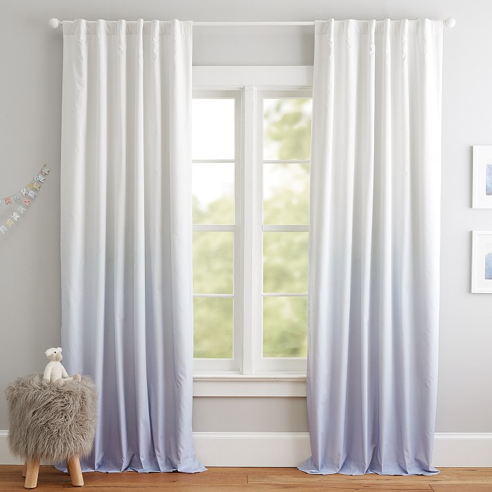 Ombre Blackout Curtain Panel Pottery Barn Kids