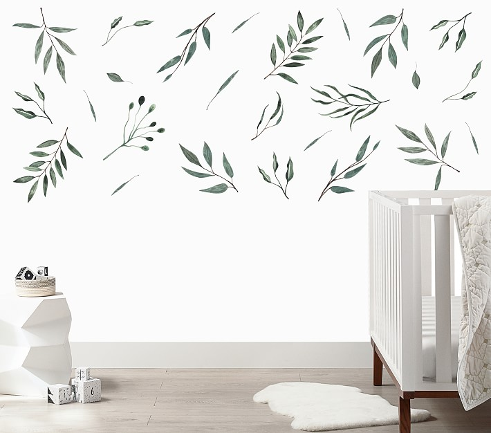 Urbanwalls Watercolor Leaves Wall Decals Pottery Barn Kids