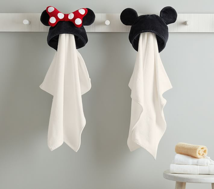 Disney Minnie Mouse Baby Hooded Towel Pottery Barn Kids