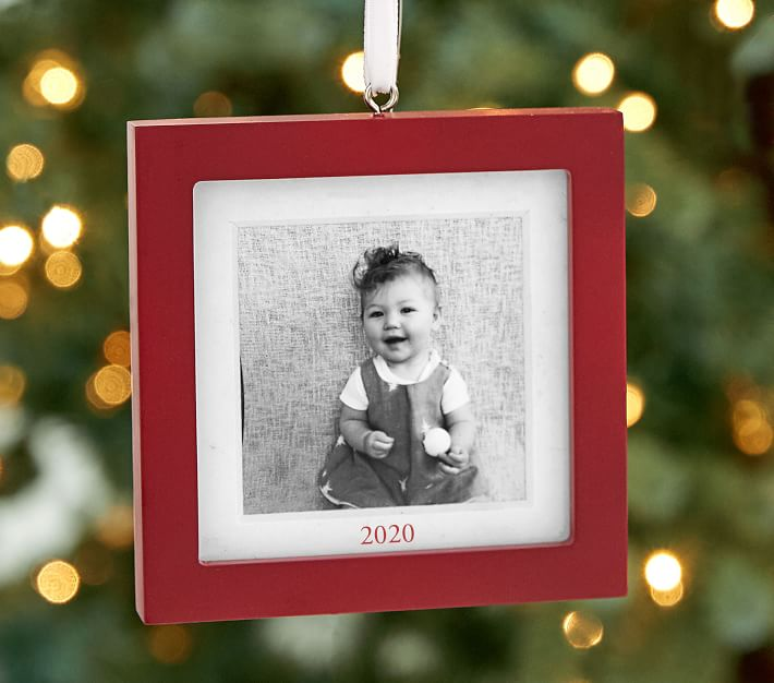 Personalized Red Frame Ornaments Pottery Barn Kids