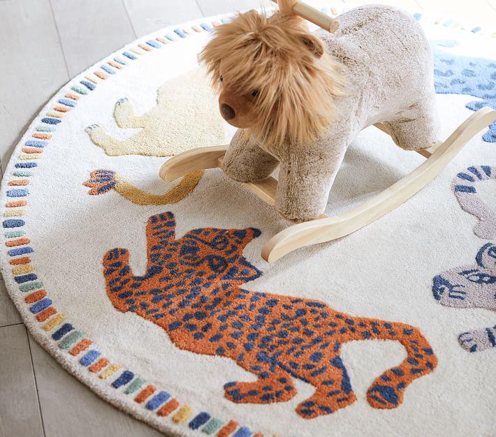 Mid Century Safari Animal Rug | Pottery Barn Kids
