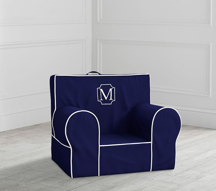 My First Navy Anywhere Chair 174 Toddler Armchair Pottery