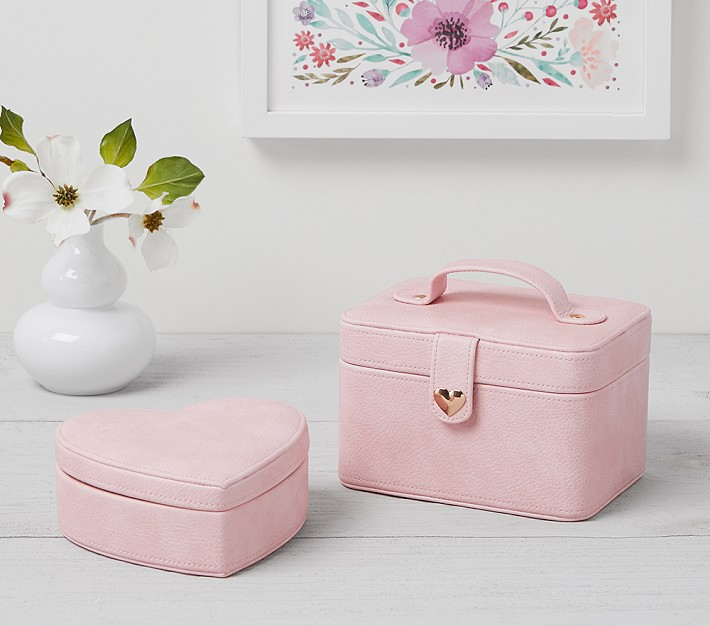 Pink Harlow Kids Jewelry Box Collection   Pottery Barn Kids