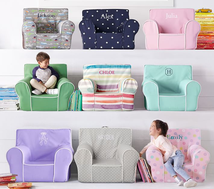 Lavender With White Piping Anywhere Chair 174 Kids Armchair
